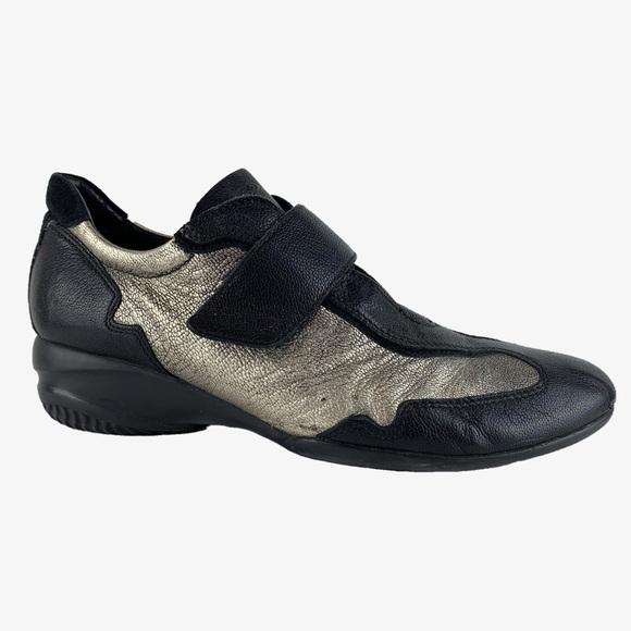 Geox Respira Leather Velcro Strap Sneaker
